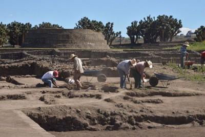 The Zultépec-Tecoaque dig in Tlaxcala.